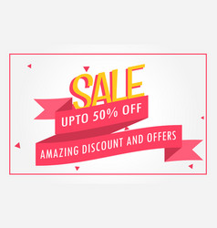 Discount banner design voucher template vector