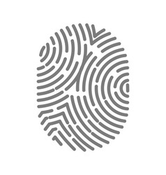 fingerprint type with circular line signs isolated vector image vector image