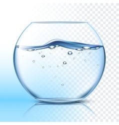 Fishbowl with water flat pictogram vector