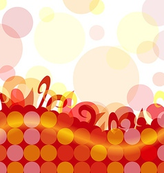 Funky dot background vector
