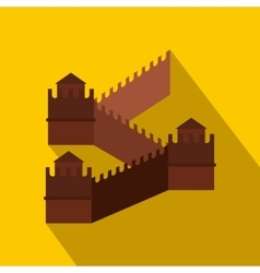 Great wall of china icon flat style vector
