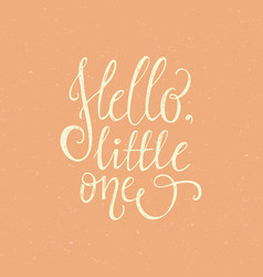 hello little one vector image