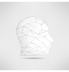 Human head profile silhouette isolated 3d mans vector image vector image