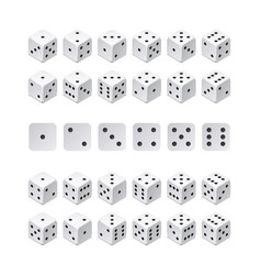 Isometric 3d dice combination game cubes vector