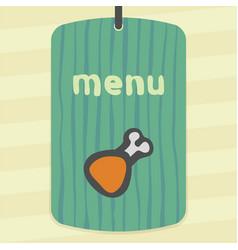 Meat chicken ham icon modern infographic logo vector