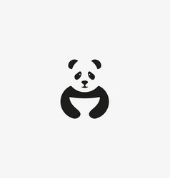 panda logo symbol design asian food icon vector image vector image