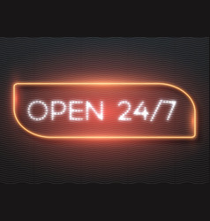 Realistic neon sign vector