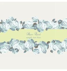 Roses vintage invitation card vector