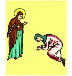 Sinner and saint vector