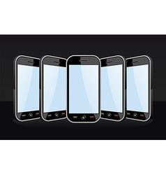 Smartphones templates vector image