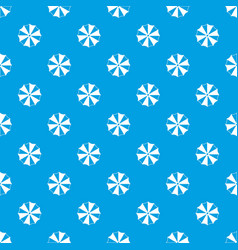 striped umbrella pattern seamless blue vector image