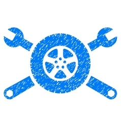 Tire service wrenches grainy texture icon vector