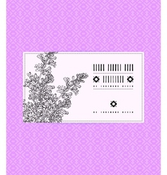 Vintage card with lilac flower vector