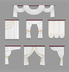 white curtains drapery for wedding room and vector image vector image