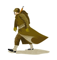 World war two american soldier vector