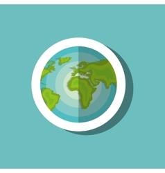 globe world travel vacation icon design vector image