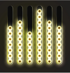 Equalizer glossy glowing track bar vector image