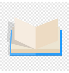 Opened book with pages fluttering isometric icon vector