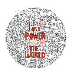 sport has power vector image
