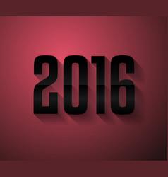 2016 new year background for modern seasonal card vector