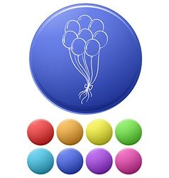 Balloon icons vector