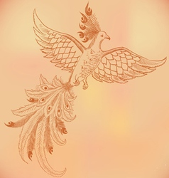 Firebird hand-drawn vector