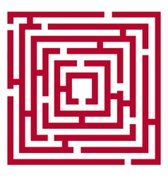 red maze vector image
