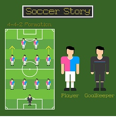 Soccer Story 3 vector image