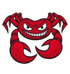 Angry red crab vector