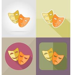 cinema flat icons 09 vector image