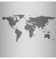 abstract gray mosaic world map vector image