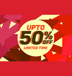 Abstract sale discount voucher design with warm vector