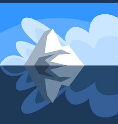 Antarctic iceberg floating iceberg over and under vector