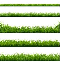 big set green grass borders vector image vector image