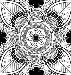Black and white lace endless seamless pattern vector