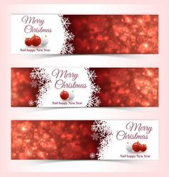 christmas balls banners vector image vector image