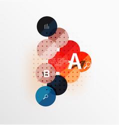 circle banner vector image