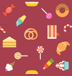 dessert pattern vector image