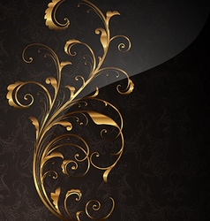 Golden Floral Design vector image