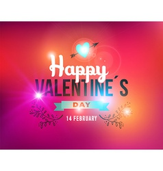 Happy valentines day vintage label card vector