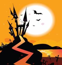 haunted castle vector image vector image
