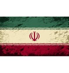 Iranian flag grunge background vector