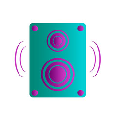isolated speaker vector image