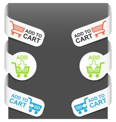 left and right side signs - add to cart vector image vector image