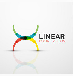 Outline minimal abstract geometric linear business vector