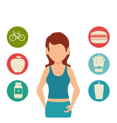 Person with sport clothes avatar vector