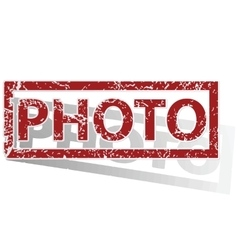 Photo outlined stamp vector
