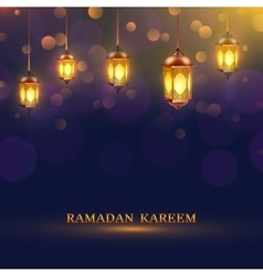 Ramadan lights poster vector