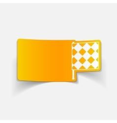 Realistic design element linesman flag vector