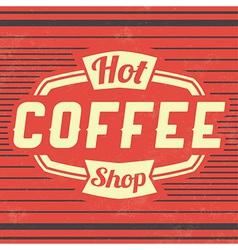Retro Coffee Vintage Background vector image